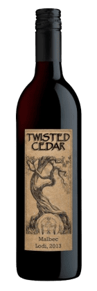 Twisted Cedar Malbec 2013 with red glow HERO