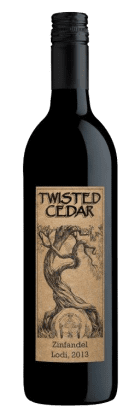 Twisted Cedar Zinfandel 2013 HERO